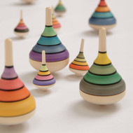 Harlequin spinning top