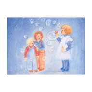 Soap bubbles postcard