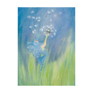 Elf blowing Dandelion Fluff postcard