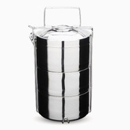 Onyx stainless steel tiffin.  3-layer.