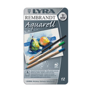 Lyra Rembrandt Aquarell Watercolour pencils, 12 in a tin