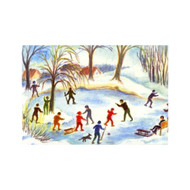 Ice Skaters postcard
