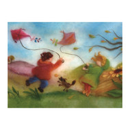 Flying Kites postcard
