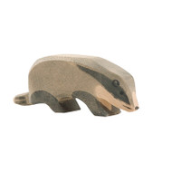 Ostheimer badger, head down.  4 cm high.  Made in Germany.