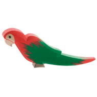 Ostheimer parrot red.  9.5 cm high (long).  Made in Germany.