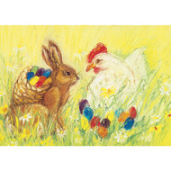 Easter Eggs postcard by Marjan van Zeyl