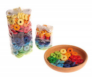 wooden beads discs, multi-coloured 20mm