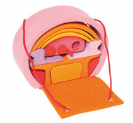 mobile home, pink-orange 14 pcs.
