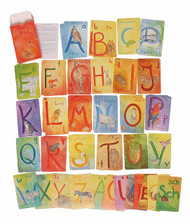 german alphabet watercolour cards