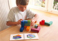 large 3-D Tangram with booklet