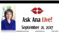 Ask Ana: Instagram Live Chat - September 21, 2017