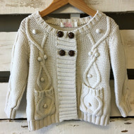 Sweet Charlotte Ivory Cable Knit Cardigan