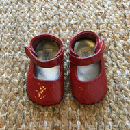 Baby Deer Red Alligator Patent Crib Shoes