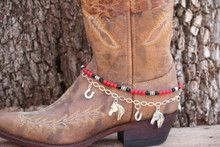 Boot Candy Red Howlite Lucky Horse Shoes & Horses