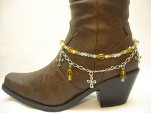 Boot Candy Amber Crystals and Crosses