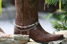 Boot Candy White Crystals, Pearls and Peace