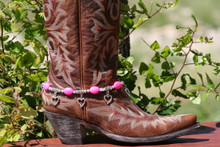 Boot Candy Hot Pink Ovals and Hearts