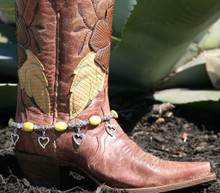 Boot Candy Yellow Ovals with Hearts