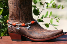 Boot Candy Orange Ovals with Ponys