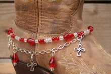 Boot Candy Red Crystals and Crosses