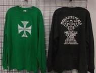 Muscle Store Long Sleeve T-Shirt - Cross Logo