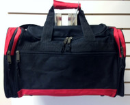 Muscle Store Gym Bag - Black with red trim - Front view