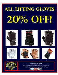 20% Off All Lifting Gloves