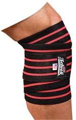 "Schiek 78"" Black Line Knee Wraps"