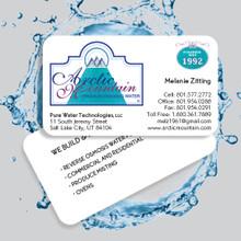 """Waterproof Business Card, 3.5"""" X 2"""" in size."""