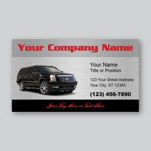 Black Escalade Business Card Design