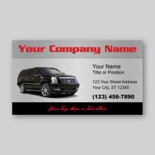 Black Escalade Business Card Design