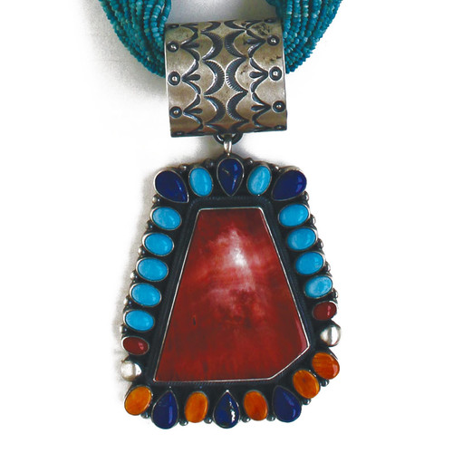 Colorful Pendant w/Necklace