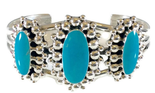 3-Stone Kingman Turquoise Surrounded by Drops
