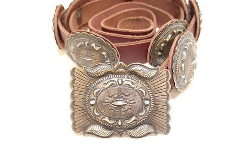 Concho Belt  .925 Sterling Silver