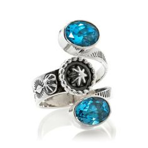 Navajo artist Sheena Jack  Swiss Blue Topaz  Available in different stone upon request