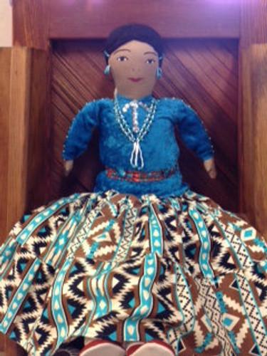Chaco Canyon Ex Large Handmade Native American Doll