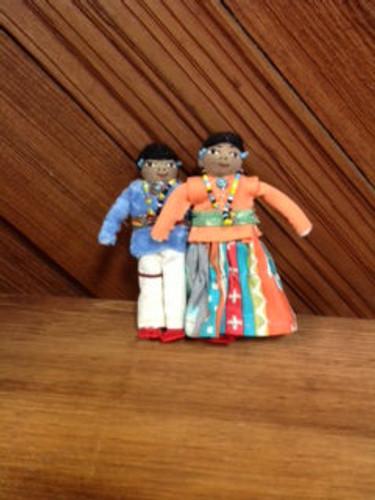 Chaco Canyon small Man & Woman Handmade Native American Doll