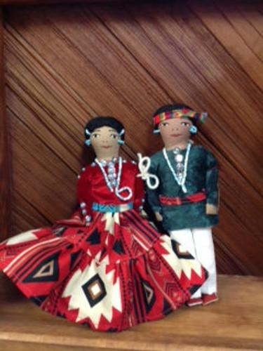 Chaco Canyon Med Man & Woman Handmade Native American Doll
