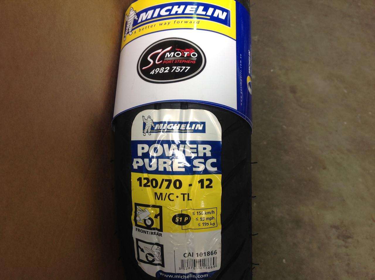120 70 12 58p michelin power pure sc moto. Black Bedroom Furniture Sets. Home Design Ideas