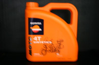 Repsol 10W40 Sintetico 4T oil, It is the most suitable synthetic lubricant oil for modern 4-stroke engines. It provides maximum protection for medium and high capacity engines with one, two, three or four cylinders, And ensures the care of all it's components and the proper lubrication of oil bath clutches. The exclusive synthetic base oils provide minimum friction increasing the power and improve the throttle response making available the full potential of the engine on demand. •10W40 API SJ •JASO T903:2006 MA2