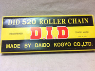 520 DID ROLLER CHAIN FOR MOTORCROSS BIKES