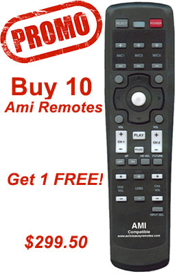 10 Pack Promo buy 10 get 1 free of the Ami A1 remotes