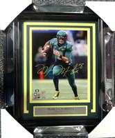 Marcus Mariota Autographed Framed 8x10 Photo Oregon Ducks MM Hologram