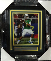 Marcus Mariota Autographed Framed 8x10 Photo Oregon Ducks MM Hologram