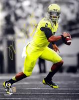 "Marcus Mariota Autographed 16x20 Photo Oregon Ducks ""Heisman '14"" MM Holo"
