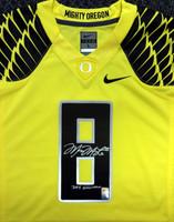 "Marcus Mariota Autographed Yellow Nike Jersey Oregon Ducks ""2014 Heisman"" Size Large"