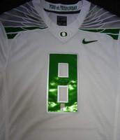 Marcus Mariota Autographed White Nike Jersey Oregon Ducks Size Medium MM Holo