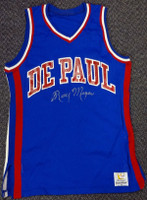 Ray Meyer Autographed DePaul Blue Demons Jersey PSA/DNA
