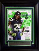Richard Sherman Autographed Framed Sports Illustrated Magazine Seattle Seahawks MCS Holo