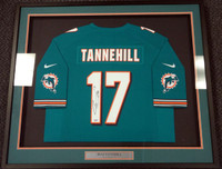 Ryan Tannehill Autographed Miami Dolphins Teal Nike Framed Jersey PSA/DNA